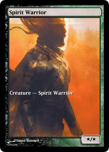 Spirit Warrior token mtg Simon Goinard – Arkanes // Elder