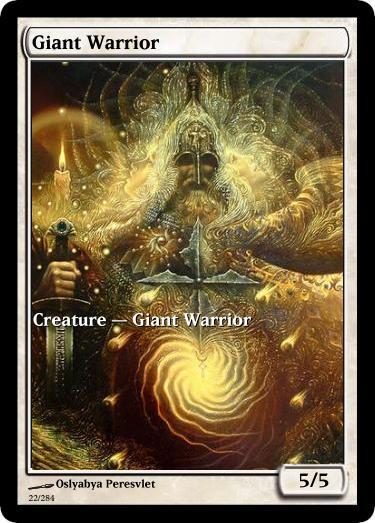 Giant Warrior token mtg Oslyabya Peresvlet