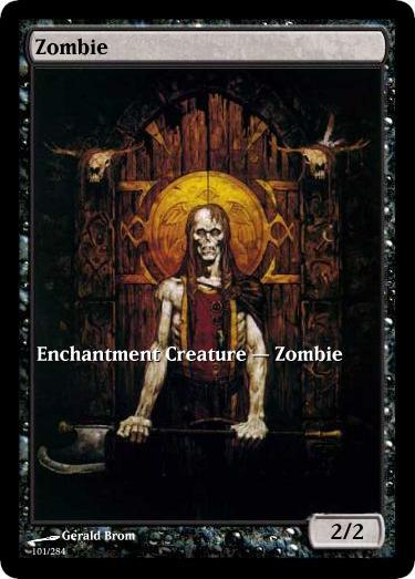 Zombie Token Mtg Gérald Brom Arkanes Elder Dragon Highlander
