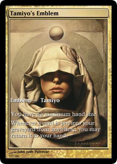Tamiyo's Emblem token mtg John Jude Palencar