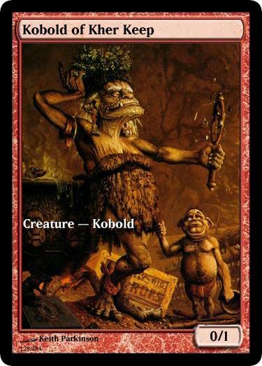 Kobold of Kher Keep token mtg Keith Parkinson