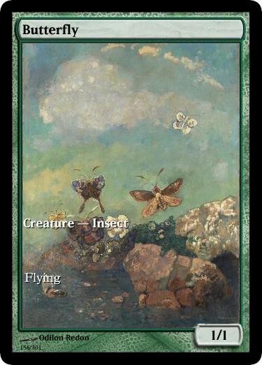 Butterfly mtg token Odilon Redon