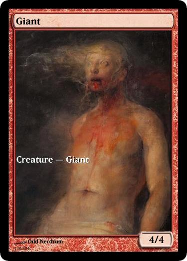 Giant mtg token Odd Nerdrum