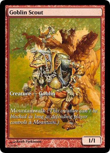 Goblin Scout token mtg Keith Parkinson