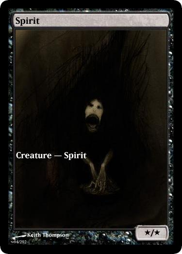 Spirit token mtg Keith Thompson