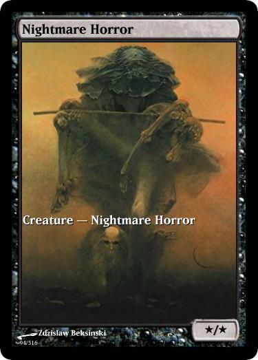 Nightmare Horror Token Mtg Zdzislaw Beksinski