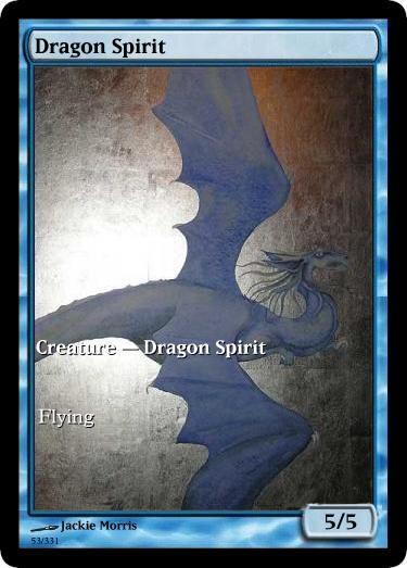 Dragon Spirit token mtg Jackie Morris