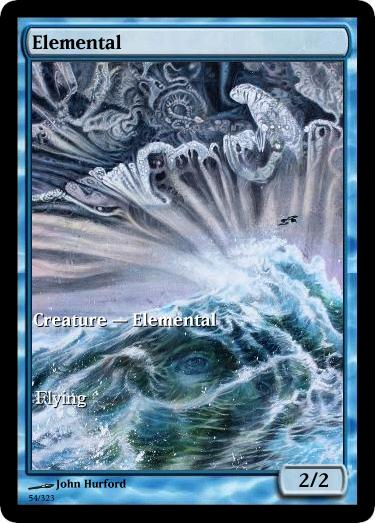 Elemental token mtg John Hurford