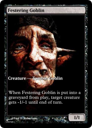 Festering Goblin token mtg Paul D. Robertson