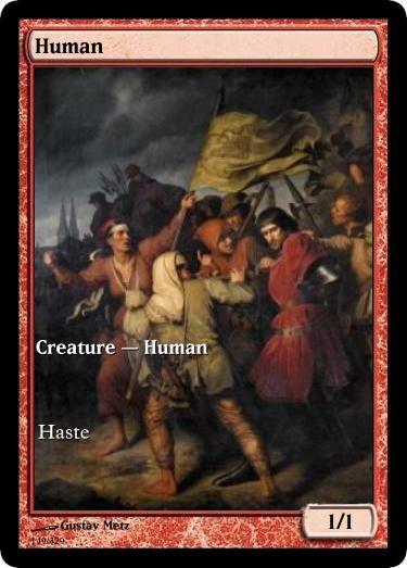 Human token mtg Gustave Metz