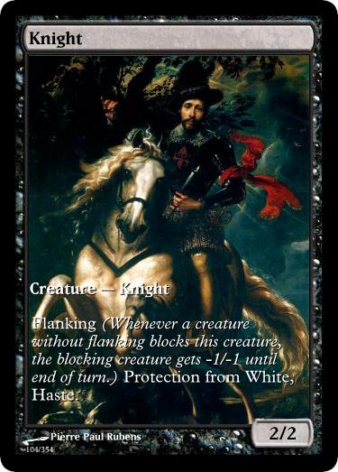 Knight token mtg Pierre Paul Rubens