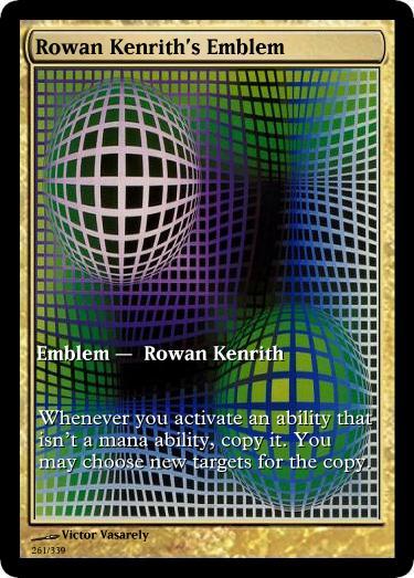 Rowan Kenrith's Emblem mtg Victor Vasarely