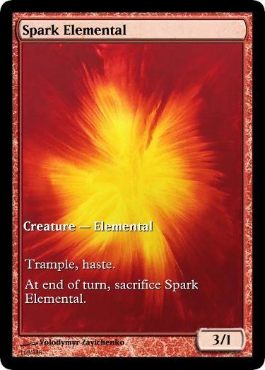 Spark Elemental token mtg Volodymyr Zavichenko