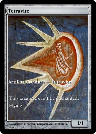 Tetravite token mtg unknown artist