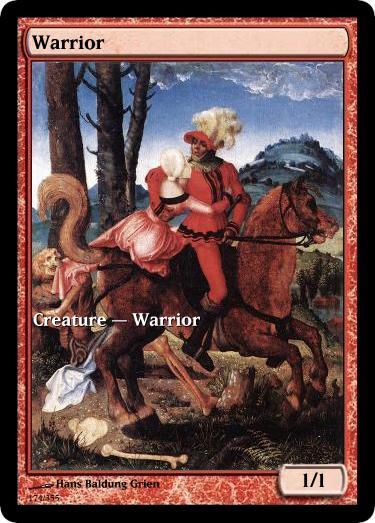 Warrior token mtg Hans Baldung Grien